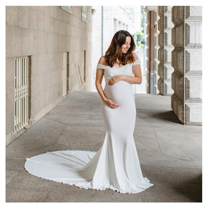 mareike wiesner photography babybauch Schwangerschaftskleid jasmine weiss - Schwangerschaftskleider